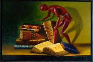 La bibliothèque idéale de Yolène Her dans Bibliothèques idéales tableau12-300x199