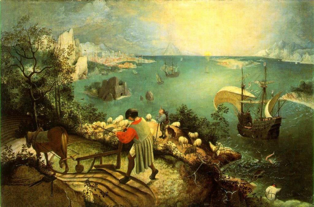 Analyse de La Chute d'Icare de Bruegel l'Ancien par Coralyne Fallet, Augustine Midavaine, Océane Desse, Camille Blervacq et Yolène Her dans Analyses de l'image bruegel