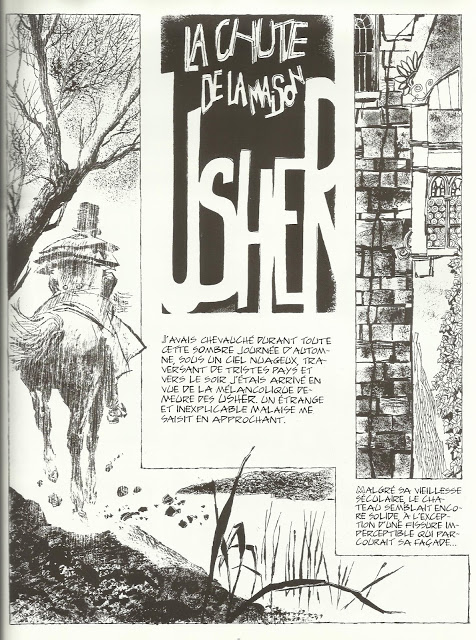 Analyse de l'adaptation en bande dessinée de La Chute de la Maison Usher.  dans Analyses de l'image usher1